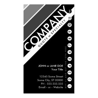color customizable punchcard : (buy 11 get 1 free) Double-Sided standard business cards (Pack of 100)