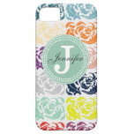 Color Damask & Mint Monogram iPhone Case iPhone 5 Cover