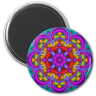 Color Dance, abstract mandala Magnet