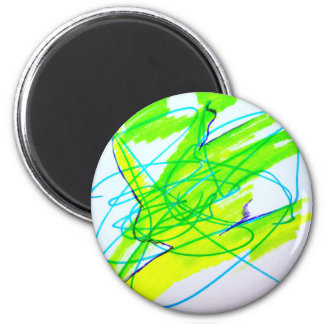 Color Dancing 2 Inch Round Magnet