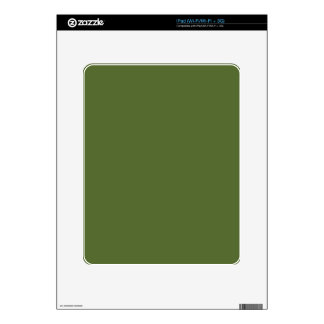 color dark olive green iPad decal