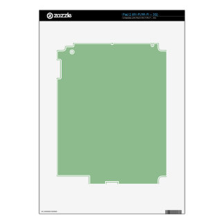 color dark sea green decal for iPad 2