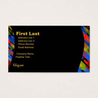 Color Darts Dark: Red Blue Yellow Green Business Card