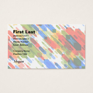 Color Darts Light: Red Blue Yellow Green Business Card