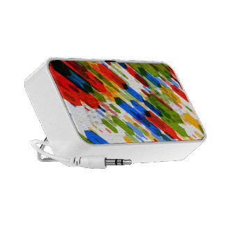 Color Darts Light: Red Blue Yellow Green Laptop Speakers