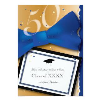 """Color de acento del azul real de la reunión de invitación 5"""" x 7"""""""