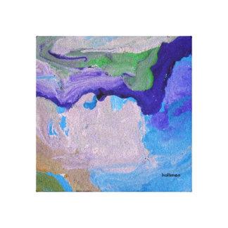 Color de agua abstracto impresión en lona estirada