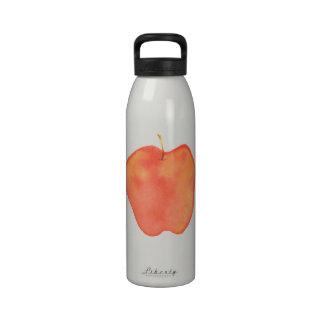 Color de agua Apple Botellas De Beber