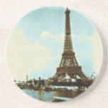 Color de agua de París del vintage Posavasos Personalizados
