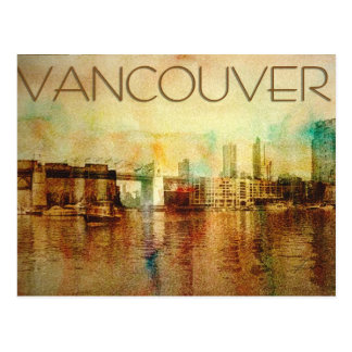 Color de agua de Vancouver Tarjeta Postal