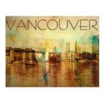 Color de agua de Vancouver Tarjetas Postales