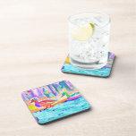 Color de agua del estudio del pato posavasos de bebidas