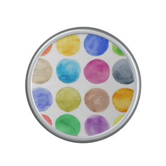 Color de agua, lunar grande, divertido, lindo, altavoz bluetooth