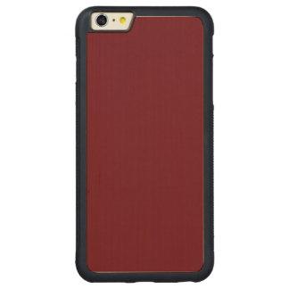 Color de alta calidad del palo de rosa un funda de arce bumper carved® para iPhone 6 plus