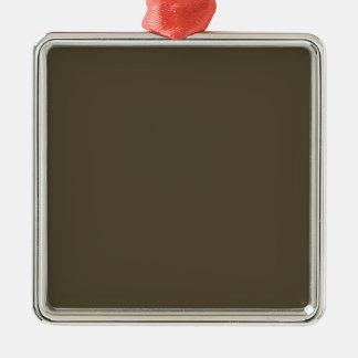 Color de color caqui del verde caqui Greyed oscuro Adorno Navideño Cuadrado De Metal