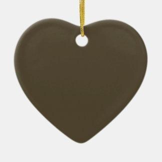 Color de color caqui del verde caqui Greyed oscuro Adorno Navideño De Cerámica En Forma De Corazón