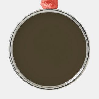Color de color caqui del verde caqui Greyed oscuro Adorno Navideño Redondo De Metal