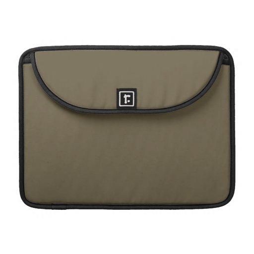 Color de color caqui del verde caqui Greyed oscuro Funda Para Macbooks