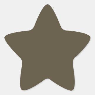 Color de color caqui del verde caqui Greyed oscuro Pegatina En Forma De Estrella