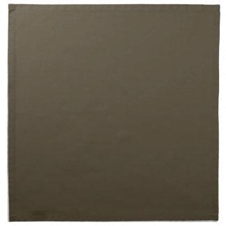 Color de color caqui del verde caqui Greyed oscuro Servilletas Imprimidas