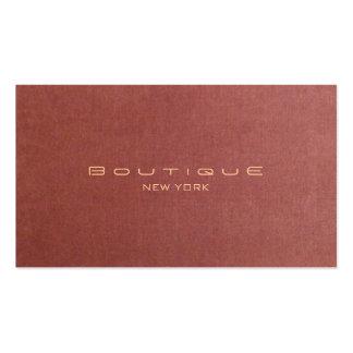 Color de color salmón terciopelo elegante del bout plantillas de tarjetas de visita