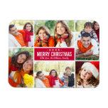 Color de encargo del collage el | del navidad de imanes flexibles
