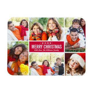 Color de encargo del collage el | del navidad de iman
