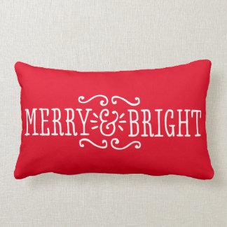 Color de encargo feliz y brillante de la almohada