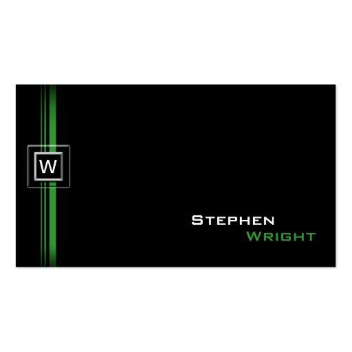 Color de encargo moderno flotante del monograma tarjetas de visita
