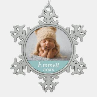 Color de encargo personalizado del ornamento el | adorno de peltre en forma de copo de nieve