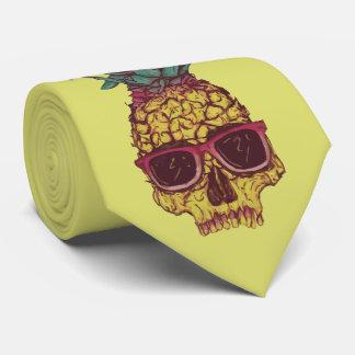 Color de encargo punky de la piña enrrollada corbatas personalizadas