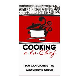 Color de encargo que cocina la tarjeta del tarjeta personal