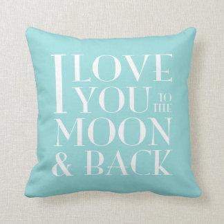 Color de encargo te amo a la luna y a la parte cojín
