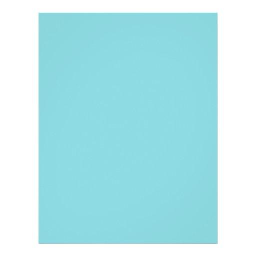 "Color de fondo - aguamarina folleto 8.5"" x 11"""