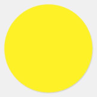 Color de fondo - amarillo etiqueta redonda