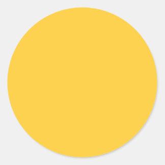 Color de fondo amarillo sólido FFCC33 Pegatinas