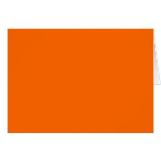 Color de fondo anaranjado sólido FF6600 Felicitación