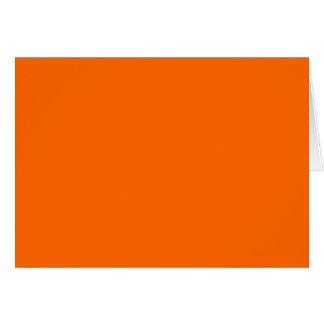 Color de fondo anaranjado sólido FF6600 Tarjeta De Felicitación