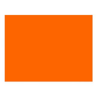 Color de fondo anaranjado sólido FF6600 Postales