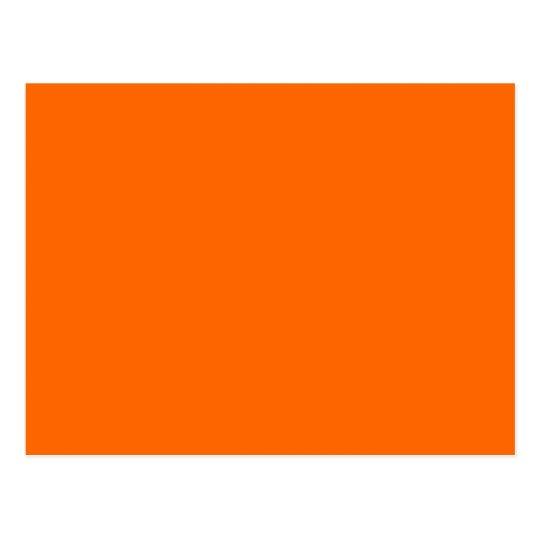 Color de fondo anaranjado sólido FF6600 Tarjeta Postal