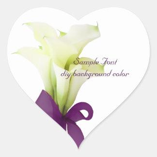 Color de fondo blanco de la cala lily DIY de PixDe Colcomanias Corazon
