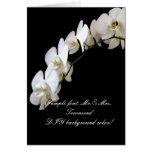 Color de fondo blanco de PixDezines Orchid/DIY Tarjeton