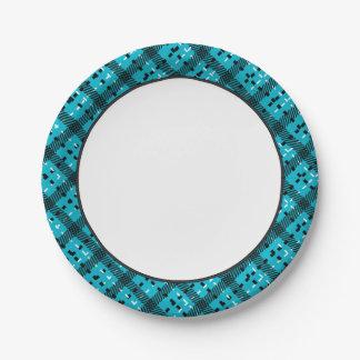Color de fondo cambiable del modelo el | de la plato de papel de 7 pulgadas