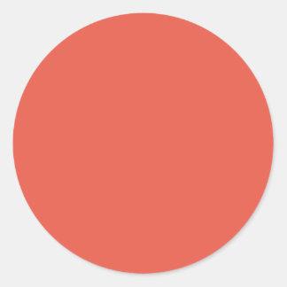 Color de fondo - coral pegatina redonda