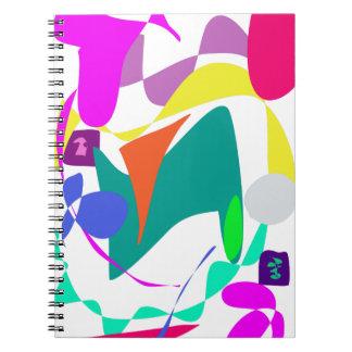 Color de fondo de encargo soltado libreta espiral