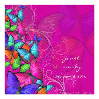 Color de fondo de neón de PixDezines que agita By Invitaciones Personales