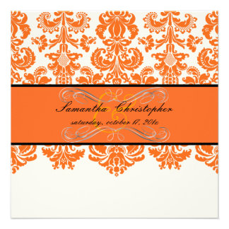 Color de fondo de PixDezines Isabel tangerine/DIY Invitación Personalizada