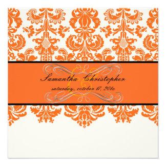 Color de fondo de PixDezines Isabel tangerine DIY Invitación Personalizada