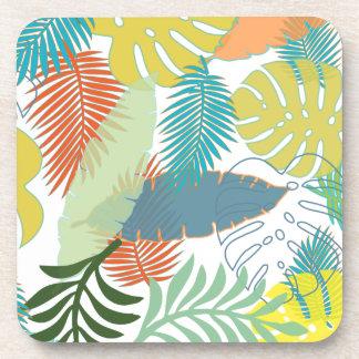 Color de fondo de PixDezines rainforest/DIY Posavasos De Bebida