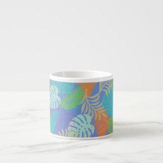 Color de fondo de PixDezines rainforest/DIY Taza Espresso